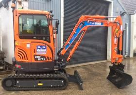 Pjp Plant Hire Doosan Dx27z Zero Tail Swing Mini Excavator For Hire